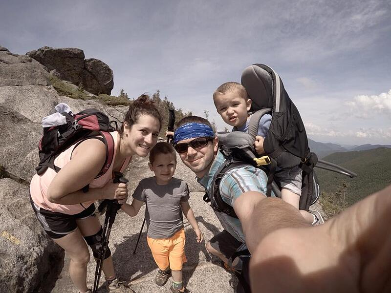 selfie, hiking, family, travel, outdoors, mountains