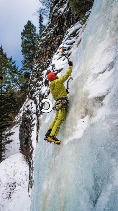 Reverse C Ice Climbing