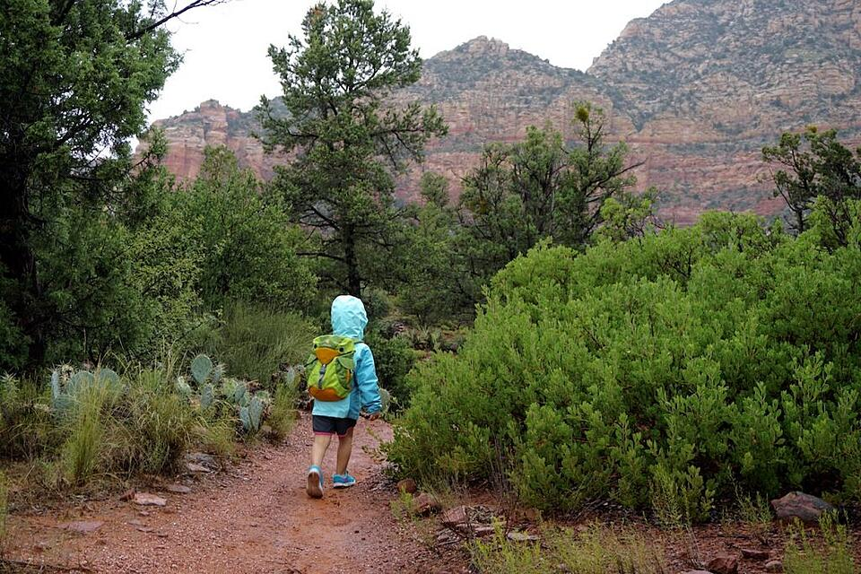 A Deuter Kikki kid starting down the road to adventure