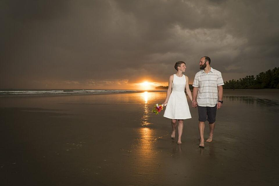 The author and her husband in Costa Rica.
