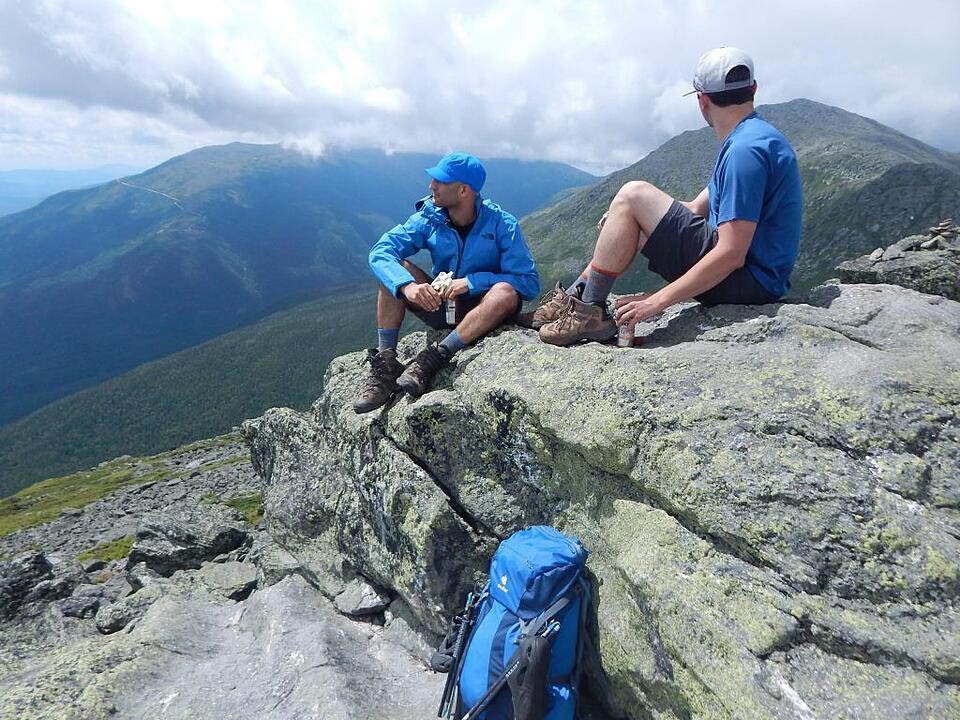 Winds in excess of 100 mph are not uncommon along the Presidential Traverse.