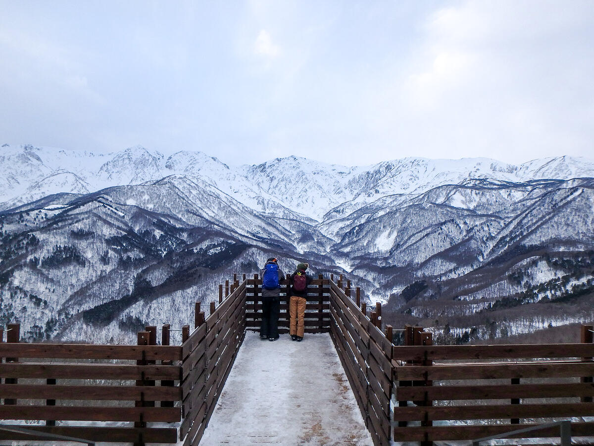 Japan's snowy mountains