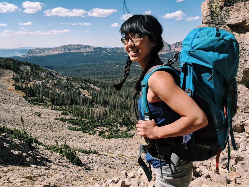 Rock climbing, backpacking, wilderness, outdoors