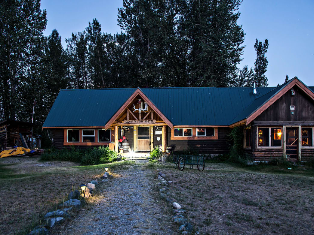 North Fork Hostel near Glacier National Park